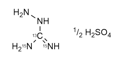 Aminoguanidine-13C15N2 sulfate reference materials - analytical standards - nitrofuran metabolites WITEGA Laboratorien Berlin-Adlershof GmbH